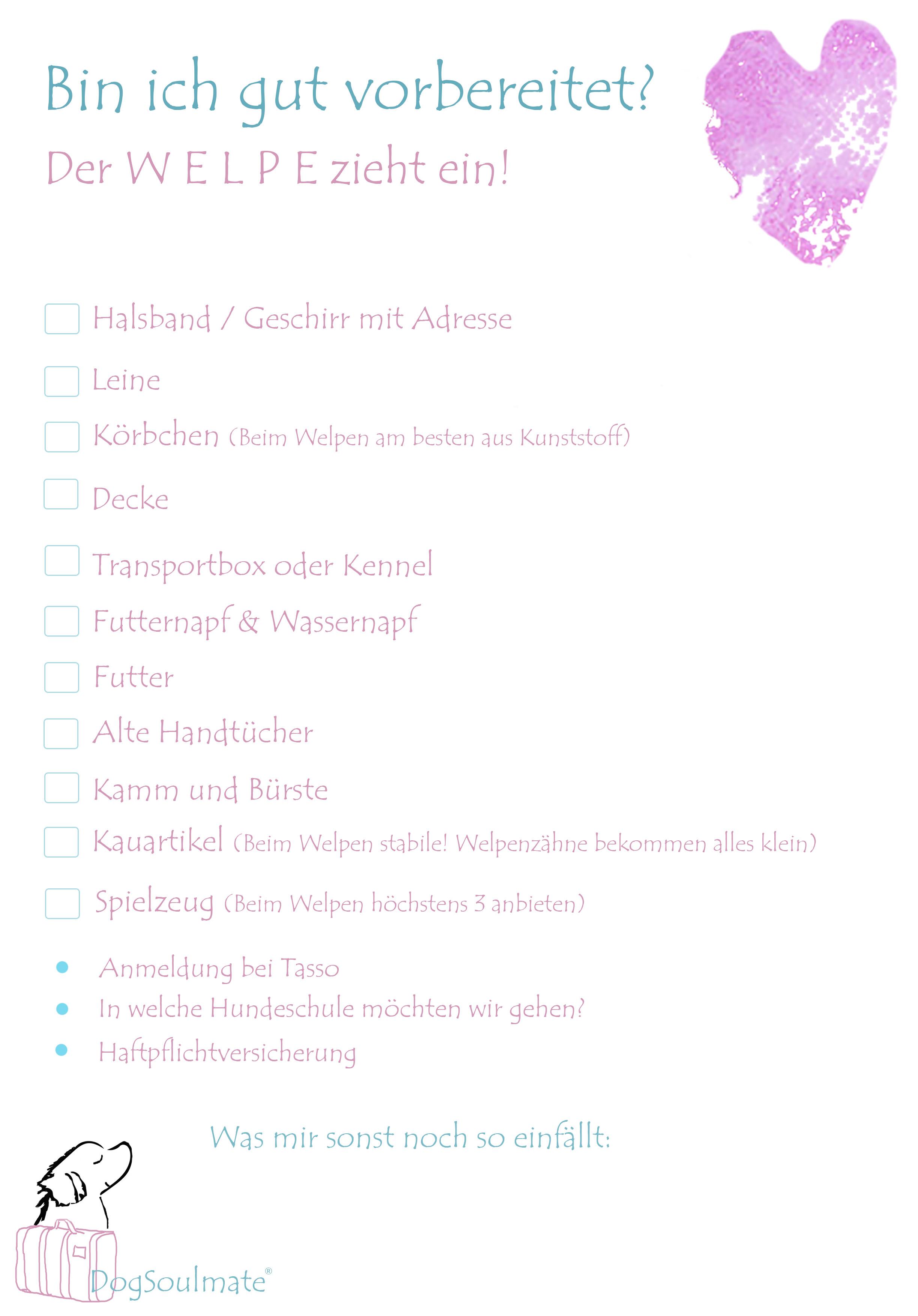 Welpeneinzug_Checkliste_DogSoulmate®